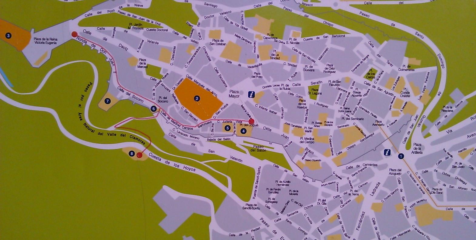 Segovia Aqueduct MapSegovia Spain Blog About Interesting Places