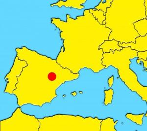 mapa-zaragoza tarazona aragon spain