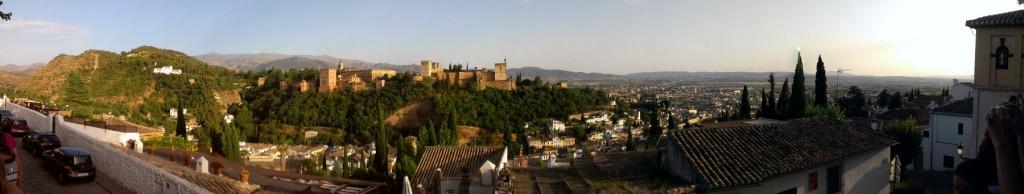 panoramica palacio de la alhambra