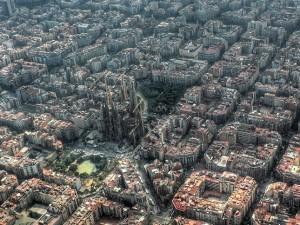 sagrada familia barcelona desde el cielo