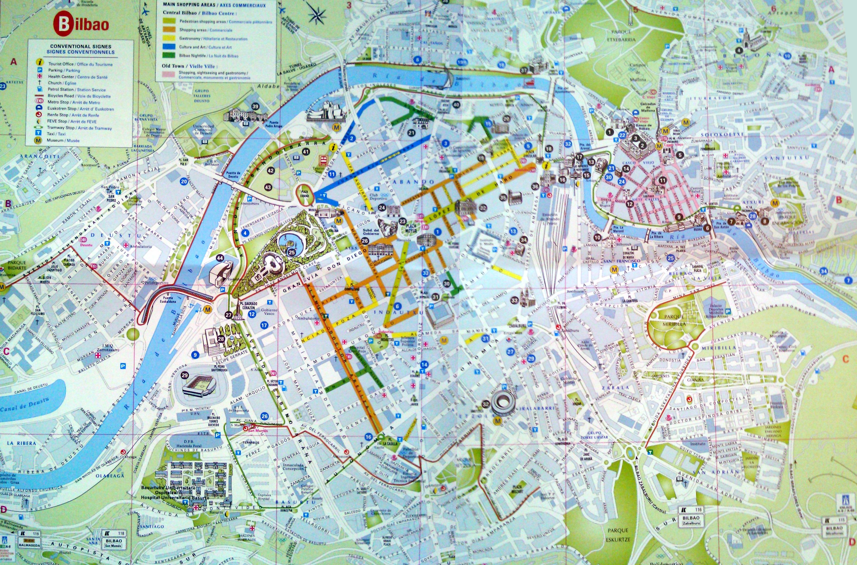 Mapa Bilbao Y Alrededores.Bilbao Guia Para Visitar Bilbao En Un Fin De Semana La