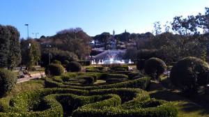 fuente y escaleras parque grande zaragoza