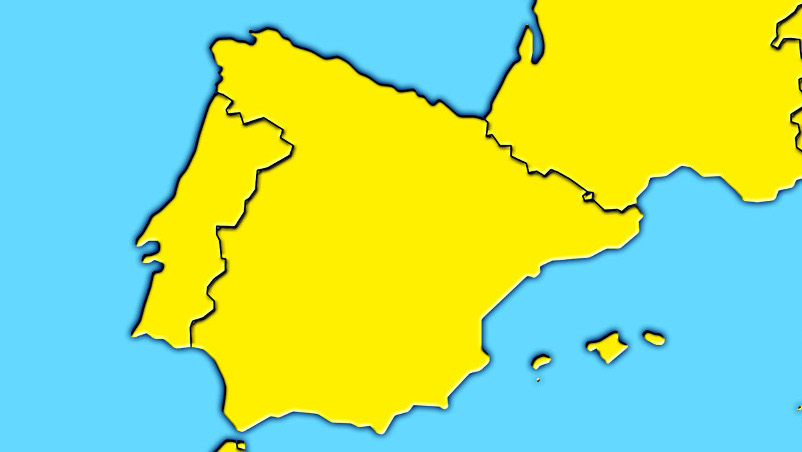 mapa peninsula iberica