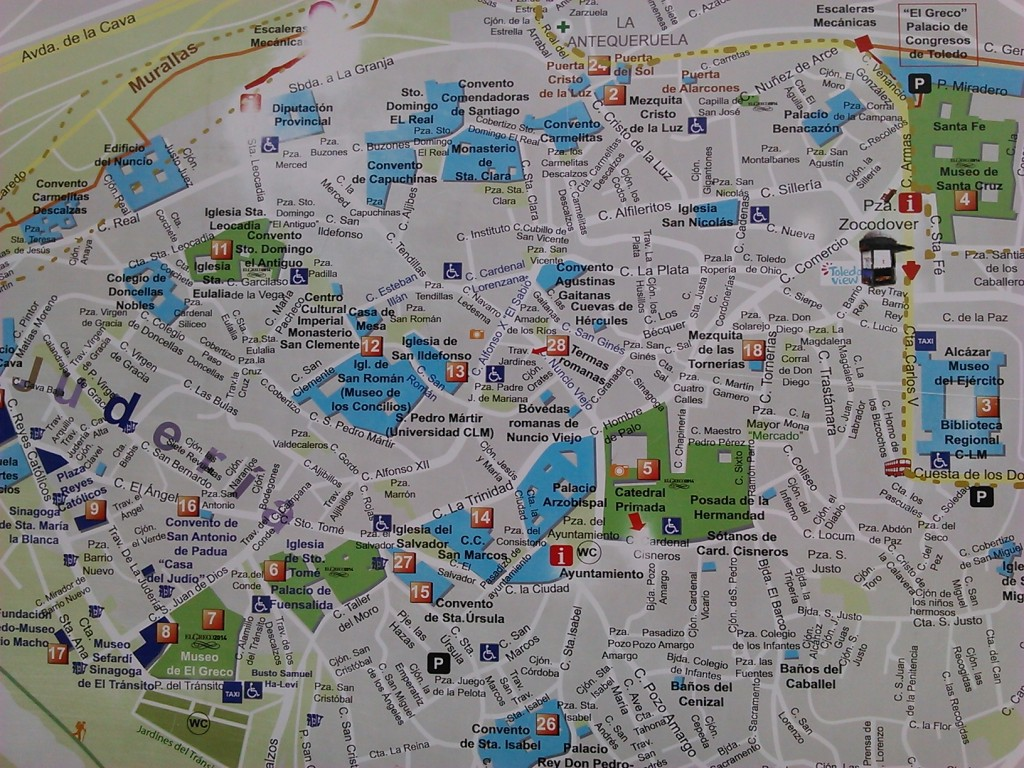 mapa turistico toledo españa