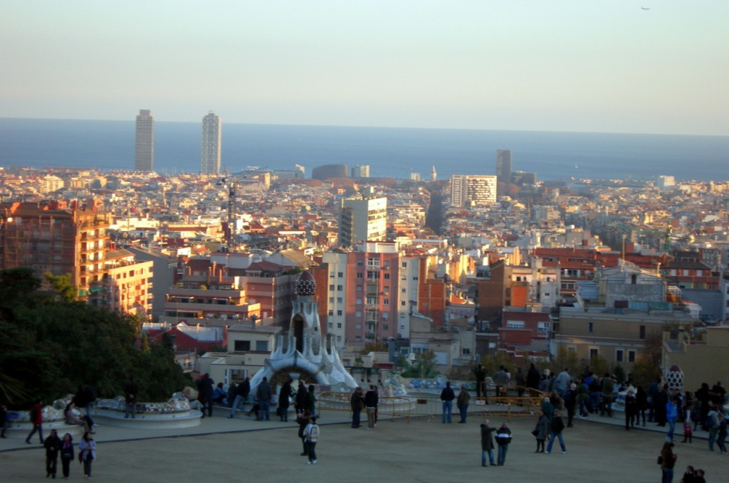 panoramica ciudad de barcelona