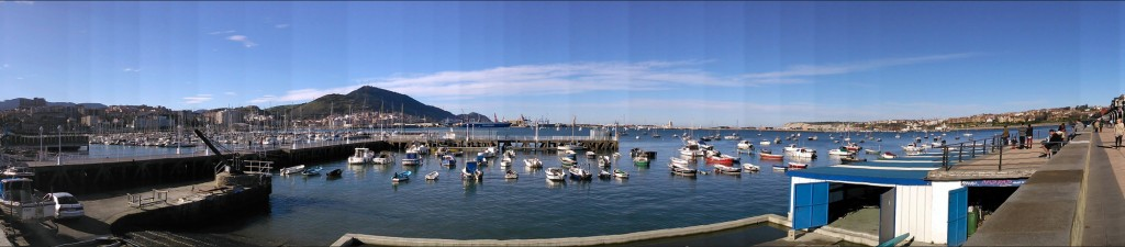 panoramica del puerto de getxo