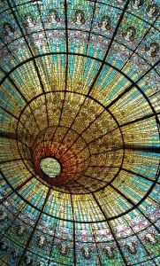 techo cristalera palau musica barcelona